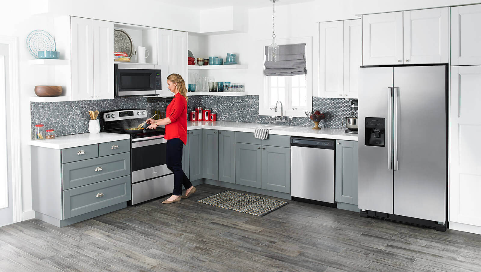 Express appliance kitchen more appliances kitchen cabinets and amana stainless steel kitchen suite workwithnaturefo